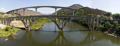 LandskapPeso da Regua Portugal Royaltyfri Foto