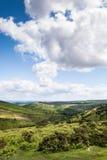 Landskapsikt av Cambrian berg, lodlinje Arkivfoto