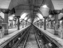 Landskapsikt av den Hoboken BANAstationen fotografering för bildbyråer