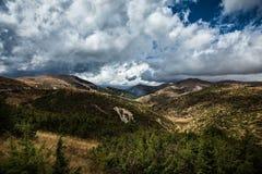 Landskapsikt av det Bistra berget Arkivbilder