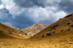 Landskapsikt av det Bistra berget Arkivfoto