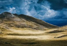Landskapsikt av det Bistra berget Arkivbild