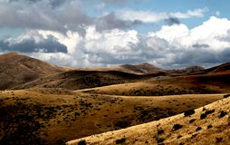 Landskapsikt av det Bistra berget Royaltyfria Bilder
