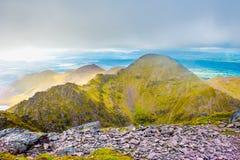 Landskapsikt av stanker för Macgillycuddy ` s Royaltyfri Foto