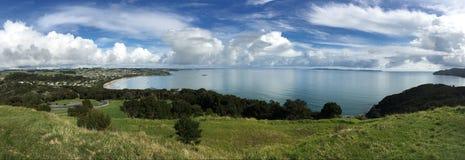 Landskapsikt av tunnbindarestranden Nya Zeeland Royaltyfri Fotografi