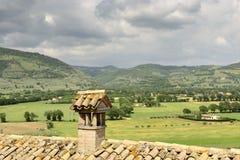 Landskapsikt från Spello royaltyfri foto