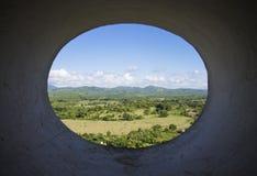 Landskapsikt från Trinidad Cuba Arkivbilder