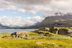 Landskapsikt i den svenska norden Royaltyfri Fotografi