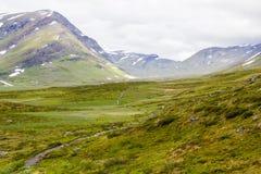 Landskapsikt i den svenska norden Royaltyfria Bilder