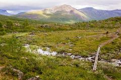 Landskapsikt i den svenska norden Royaltyfria Foton