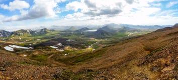 Landskapskönhet av Island, Europa Arkivfoton
