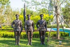 Landskapskulptur, en militär hedersvakt Royaltyfri Foto