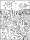 Landskapzentangle Arkivbilder