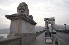 Landskhid upphängningbro Royaltyfria Foton