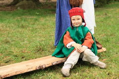 Landsknecht barn Fotografering för Bildbyråer