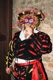 Landsknecht in mask Stock Photography