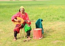 Landsknecht singer Royalty Free Stock Images