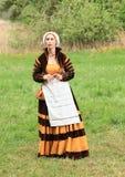 Landsknecht woman Stock Images