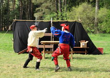 Landsknechts fencing Royalty Free Stock Images