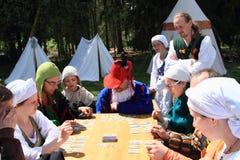 Landsknechts het gokken Royalty-vrije Stock Foto's