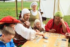 Landsknechts que joga Foto de Stock Royalty Free