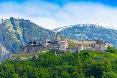 Landskron城堡墙壁 库存照片