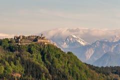 Landskron Catsle przed Mt Kepa Zdjęcia Royalty Free