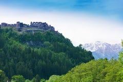 Landskron slott i Österrike Arkivbilder