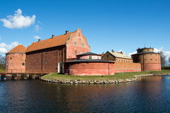 Landskrona Castle. An old fortification from the 1500s, surounded by a moat, and located in the city of Landskrona in Southern Sweden Royalty Free Stock Images