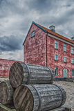 Landskrona Citadel with barrels Stock Images