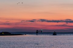 Landskrona Harbor Inlet Royalty Free Stock Photo