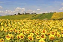 Landslandskap i gränser (Italien) Royaltyfria Bilder