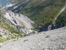 Landslide area, eroded rocks - way to Tilicho base camp, Nepal Stock Photography