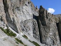 Landslide area, eroded rocks - way to Tilicho base camp, Nepal Royalty Free Stock Images
