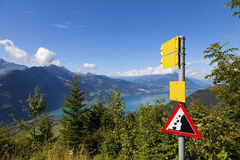Landslide Danger Sign Stock Images