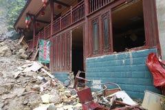 Landslide destroy Stock Photography