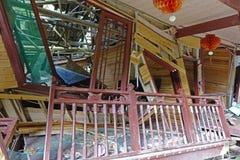Landslide destroy Stock Image