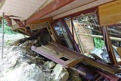 Landslide destroy Royalty Free Stock Image