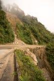Landslide in Ecuador. Landslide across mountain road in the Andes of Ecuador Royalty Free Stock Images