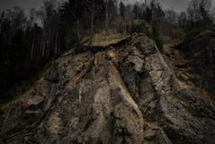 Landslide Edge Mountain Forrest stock photos