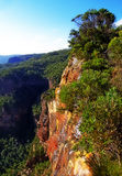 Landslide lookout, Katoomba, Blue Mountains. Cliff edge as seen from Landslide Lookout in Katoomba, Blue Mountains Stock Photo