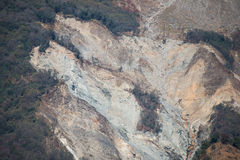 Landslide on the mountain in Nepal Stock Images