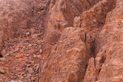 Landslide on mountain. At Sinai peninsula, Egypt Stock Photo