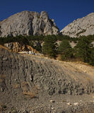 Landslide in the mountains Royalty Free Stock Photos