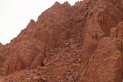 Landslide in mountains on Sinai Stock Photos