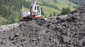Landslide, mudslide in Rauris, Salzburg after raining. Austria stock video footage