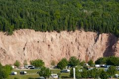 Landslide Risk Area. Near Cliff Stock Image