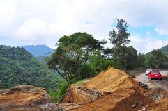 Landslide Road Block, Guatemala Royalty Free Stock Photography