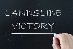 Landslide victory Royalty Free Stock Photo