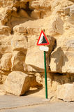Landslide warning sign Royalty Free Stock Photography